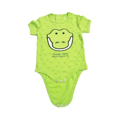 Coconut Jack's Baby Bodysuits gator