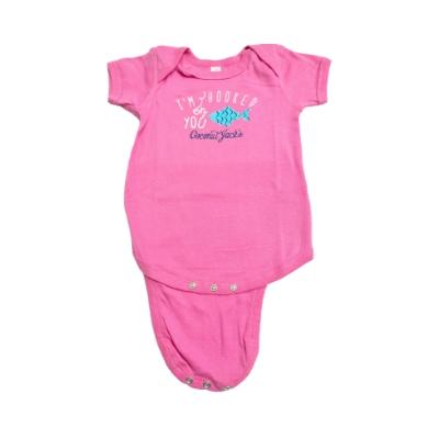 Coconut Jack's Baby Bodysuits pink fish