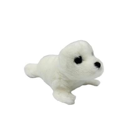 Coconut Jack's white seal stuffed animal