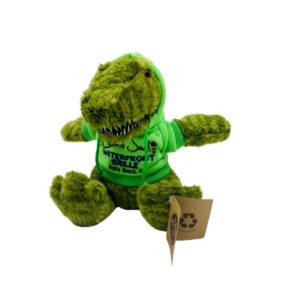 #1 green gator wearing hoodie