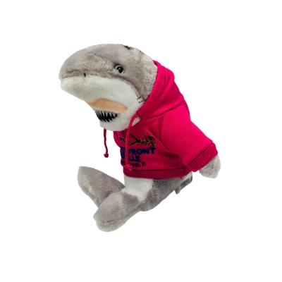 #1 tiger shark toy wearing pink hoodie