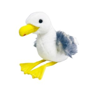 Florida Sammy Seagull stuffed animal toy white with yellow nose and feet