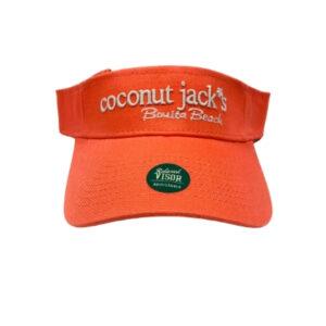coconut jacks orange visor