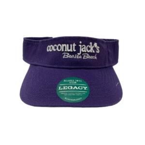 coconut jacks purple visor