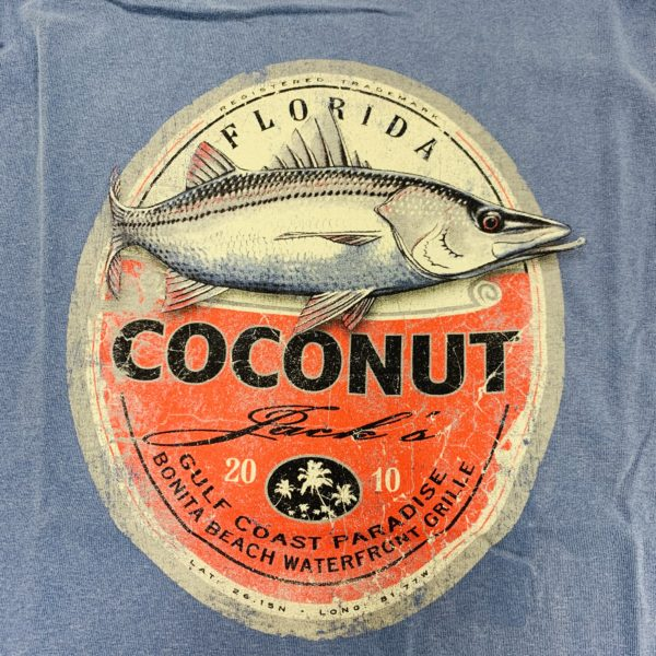 Coconut jacks snook fish shirt